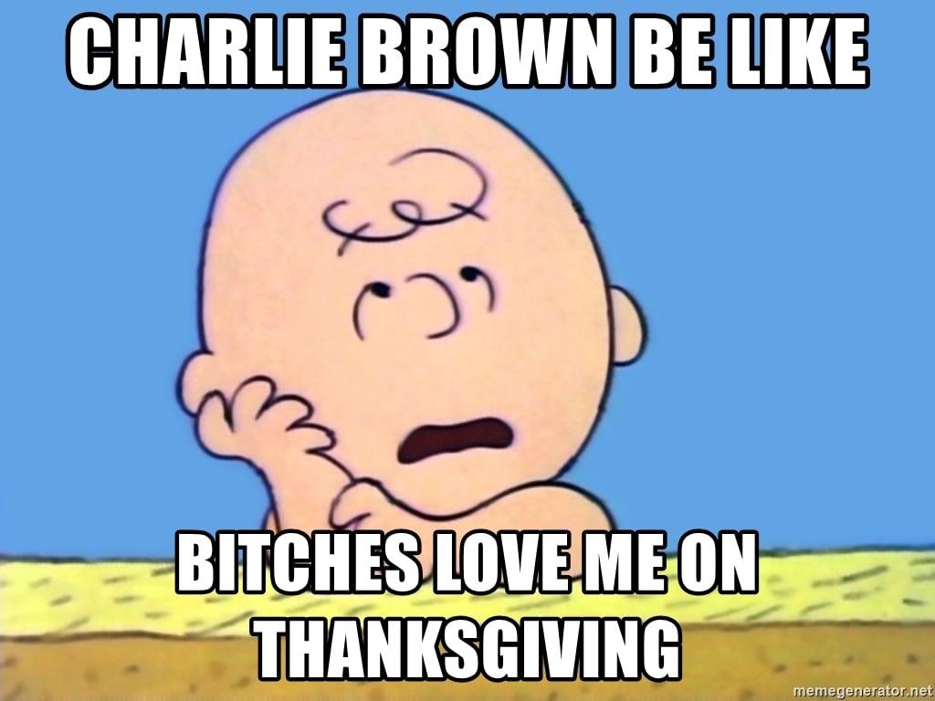 charlie brown meme thanksgiving