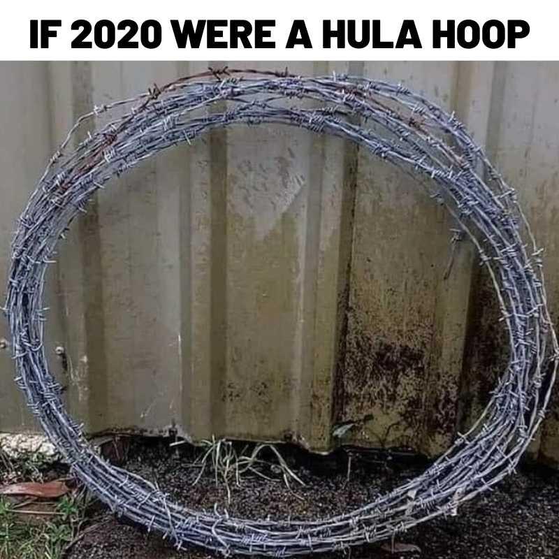 2020 as a Hula Hoop - Funny 2020 Image
