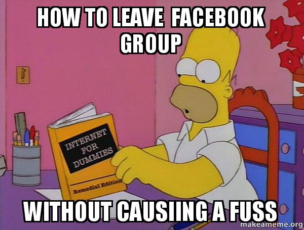 Homer Simpson Meme about Facebook Group