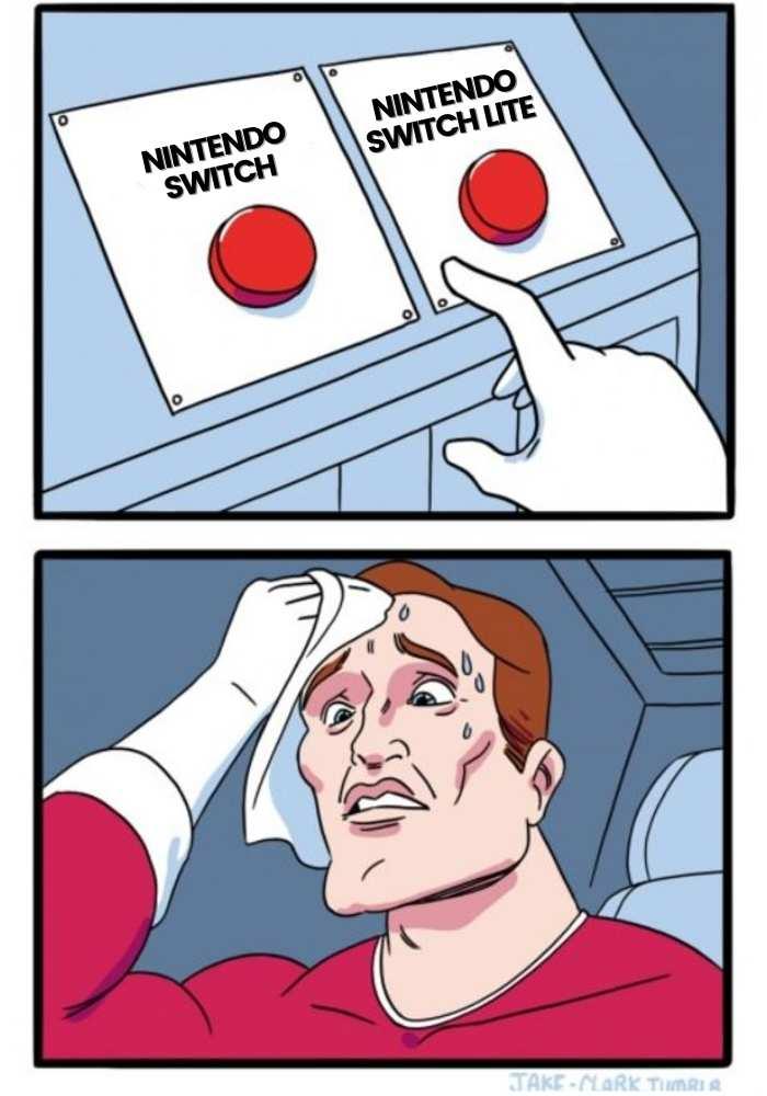 nintendo switch or nintendo switch lite meme