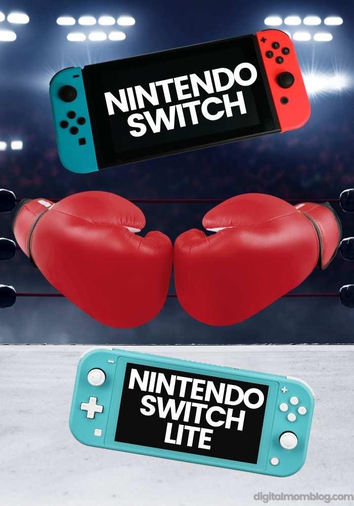 Nintendo Switch or Nintendo Switch Lite Comparison