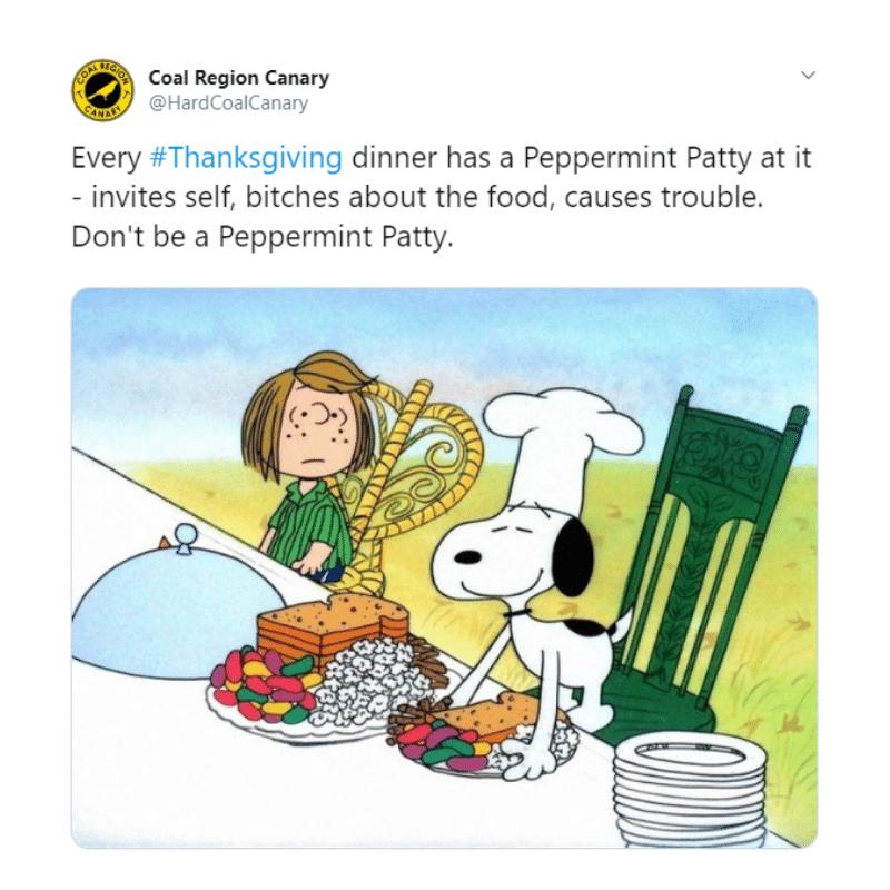Peppermint Patty Charlie Brown Thanksgiving meme