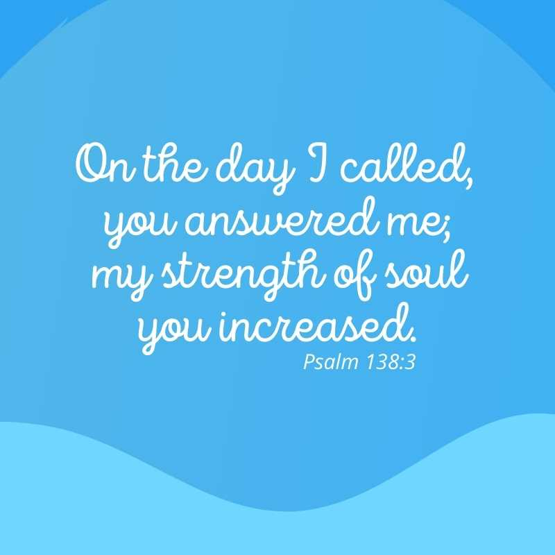 Inspirational bible quote about strength
