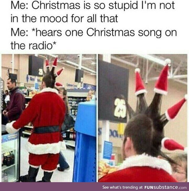 When Christmas Music Starts Playing in November funny early christmas meme