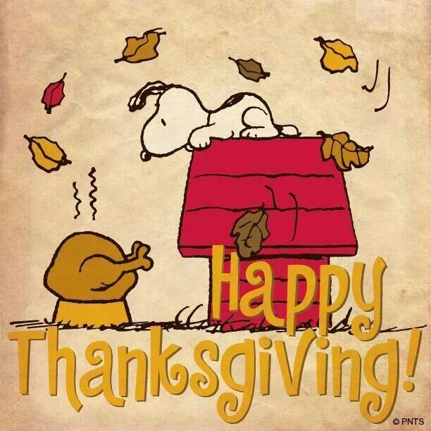 snoopy happy thanksgiving image