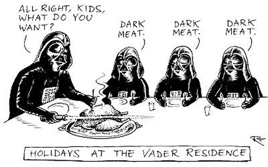 Star Wars Thanksgiving meme