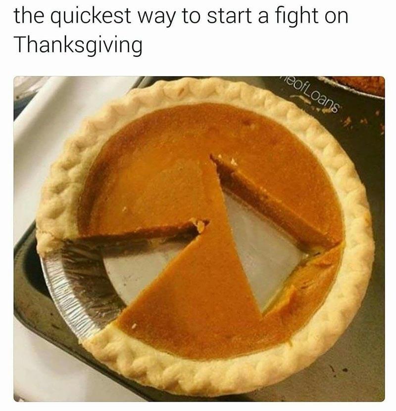 Family Fights on Thanksgiving Meme