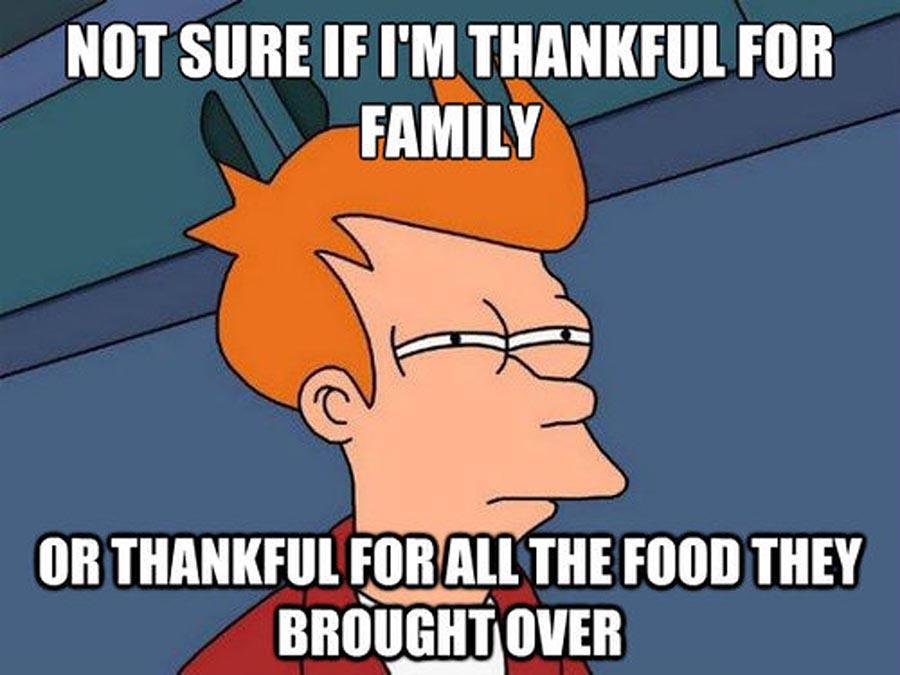 thankful food thankful family meme
