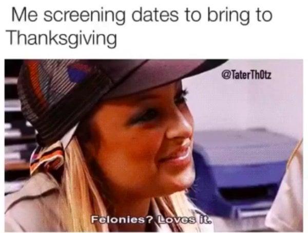 thanksgiving meme family date dinner
