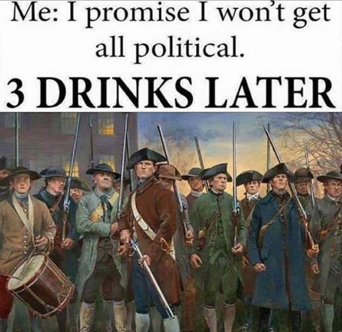 Drinking Family Politics - Funny Thanksgiving Meme