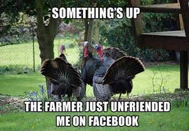 Funny Turkey Image - Farmer Unfriends You