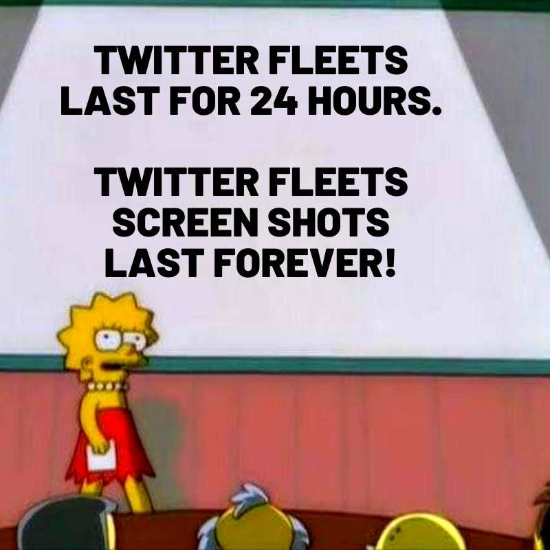 twitter fleets screen shots meme