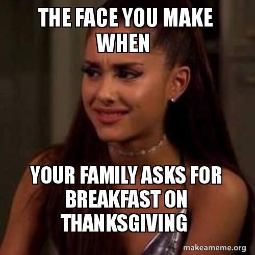 weird thanksgiving meal