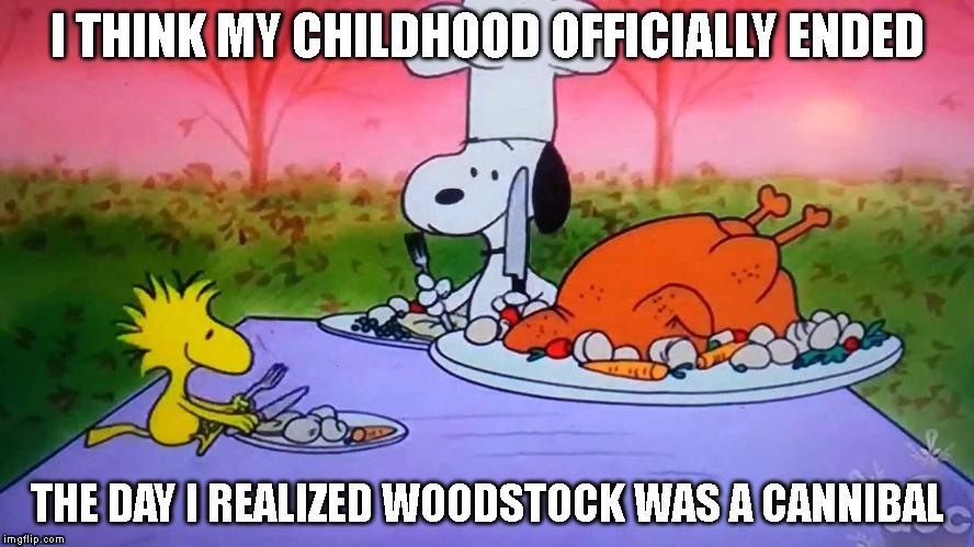 woodstock canibal charlie brown meme
