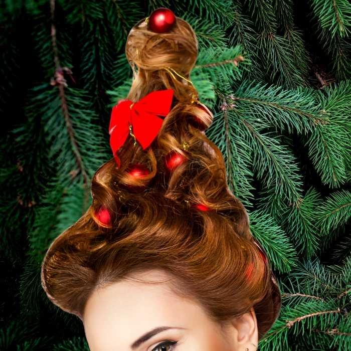 christmas tree hair diy