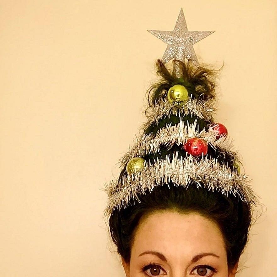 christmas tree hair