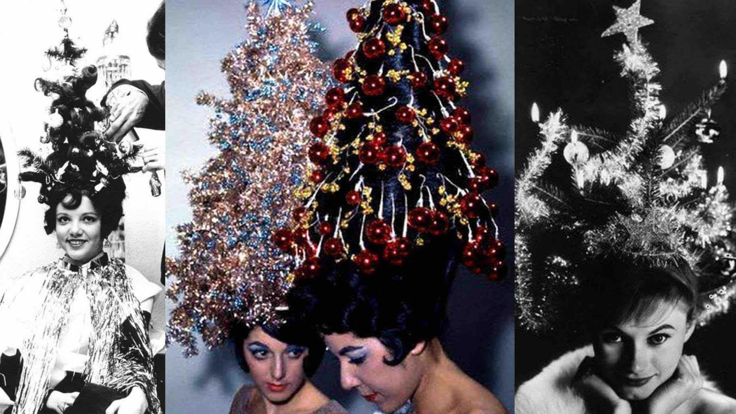 christmas tree hair trend