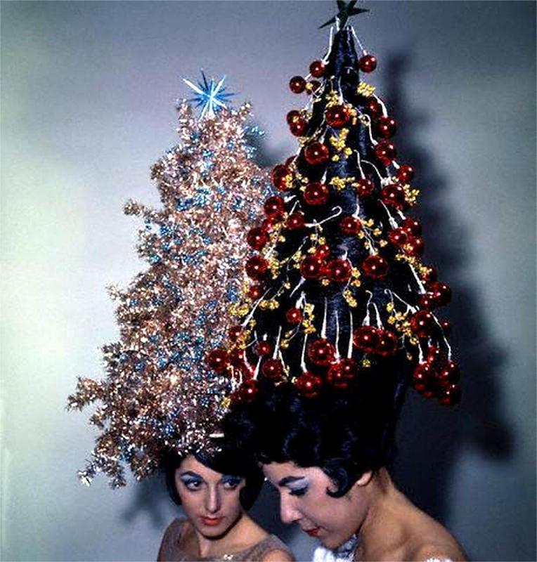 christmas trees on head