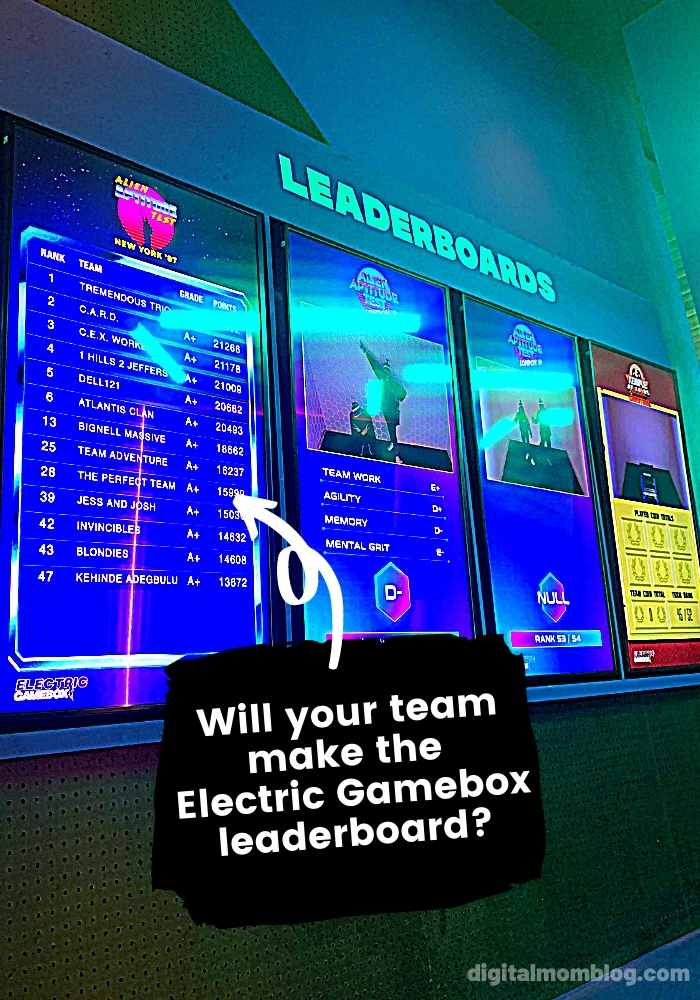 Electric Gamebox Leadeboard
