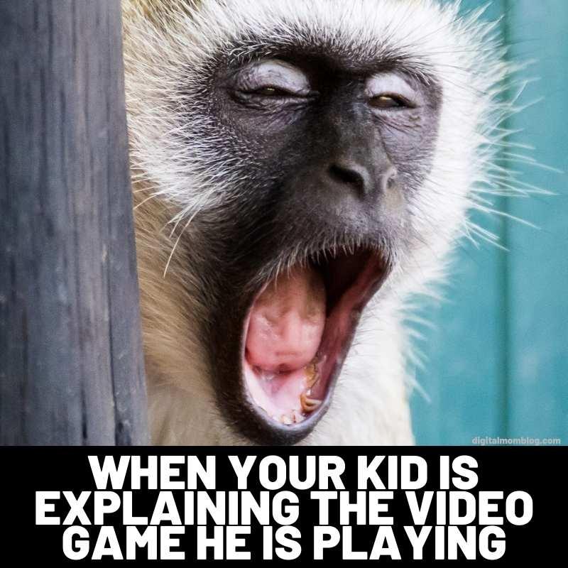 kids video games meme monkey