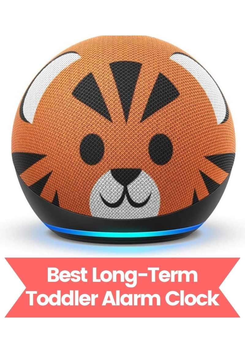 Toddler Alarm Clock - Tiger Amazon Echo Dot for Kids