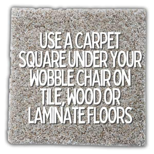 carpet pad under wobble chairs for stability