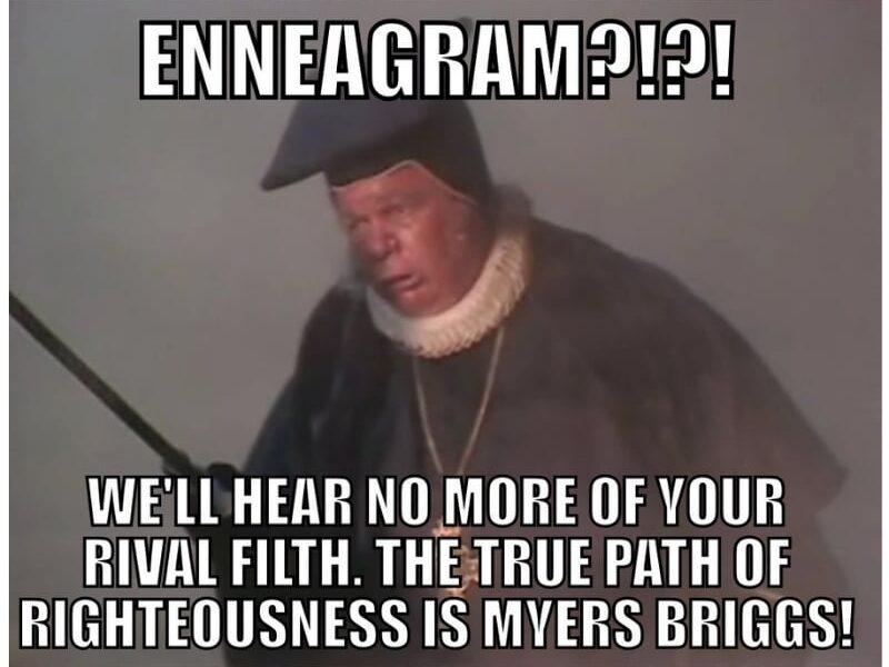 enneagram myer-briggs test meme