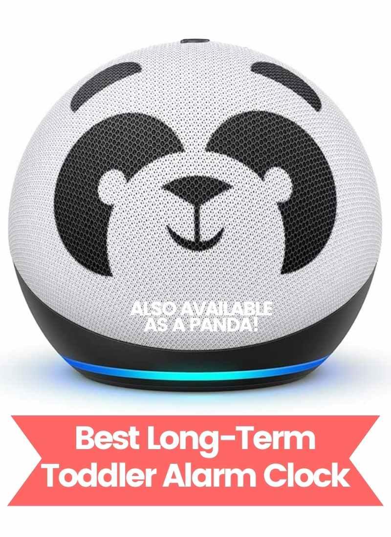Toddler Alarm Clock - Panda Amazon Echo Dot for Kids