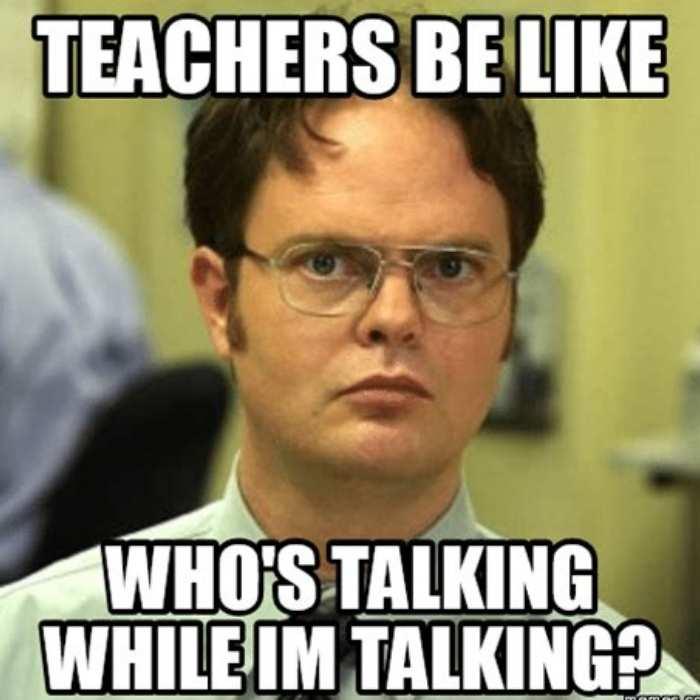 talking teachers be like memes