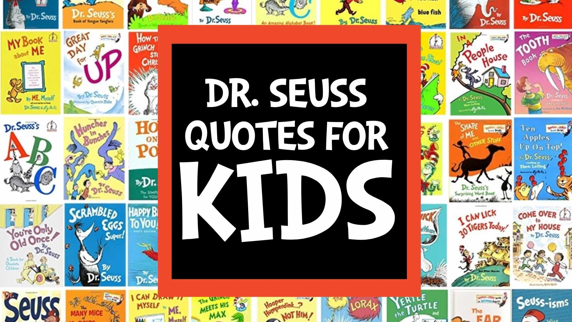 dr seuss quotes for kids from his childrens book collection