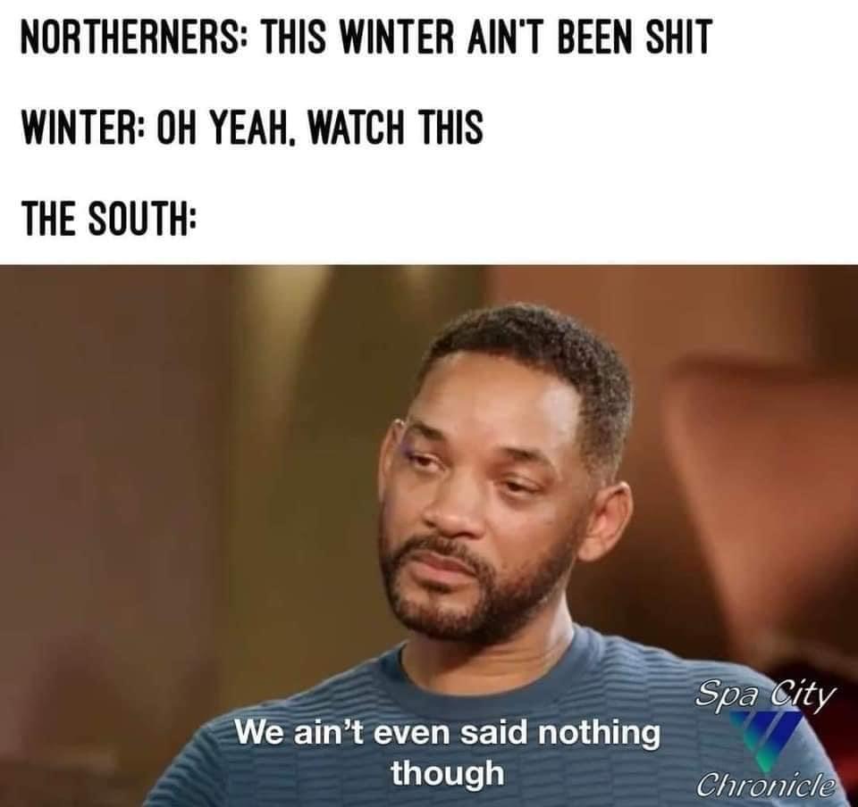 north vs south winter meme