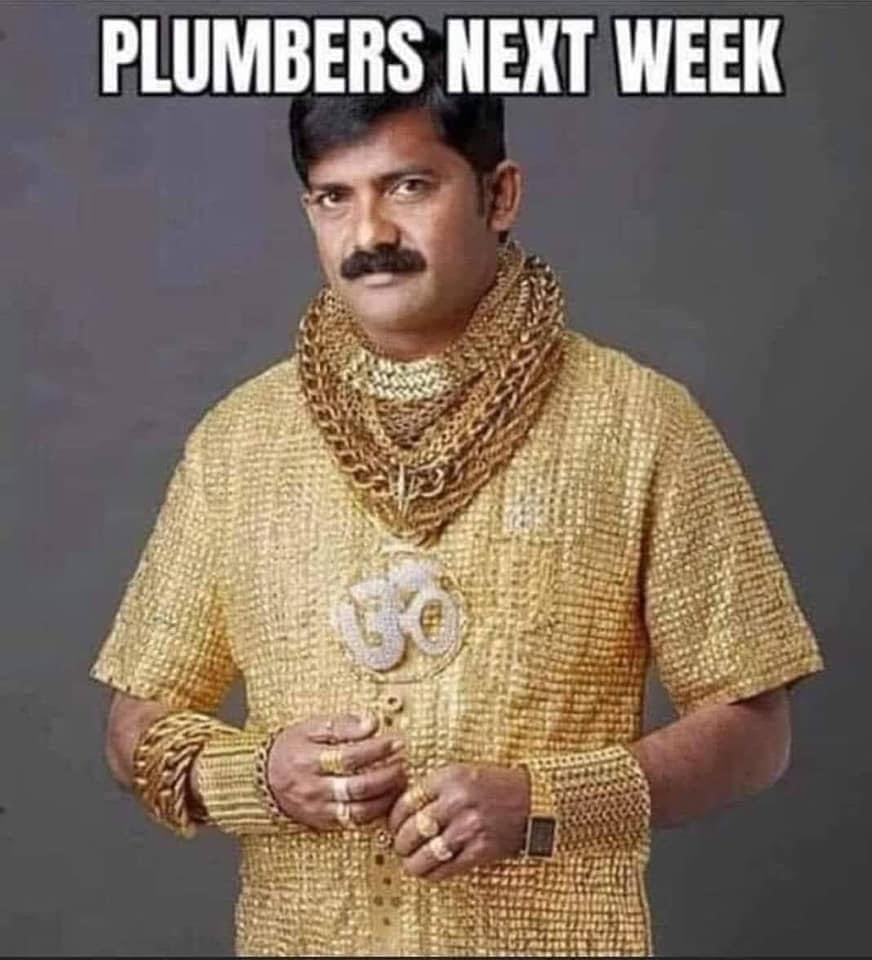 rich plumbers meme
