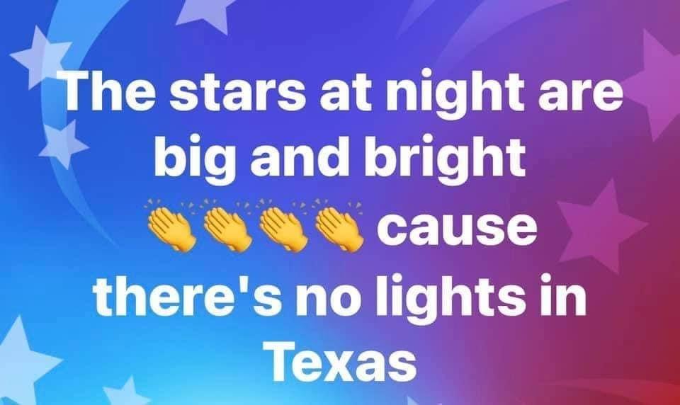stars at night no lights texas meme