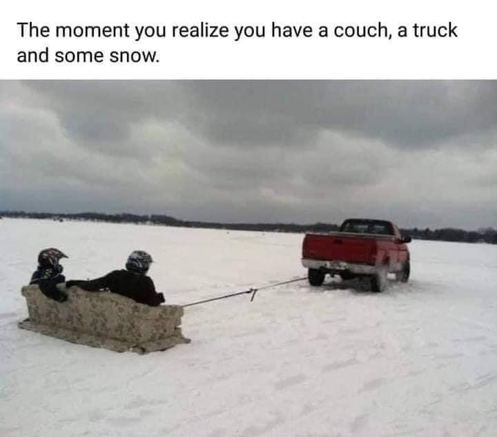 texans in the snow meme