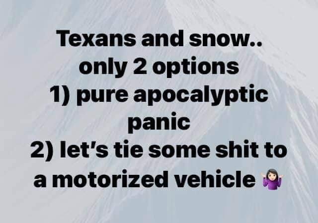 texans winter snow meme