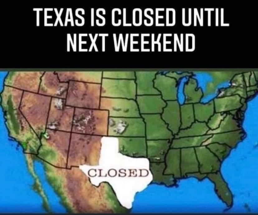 texas closed meme