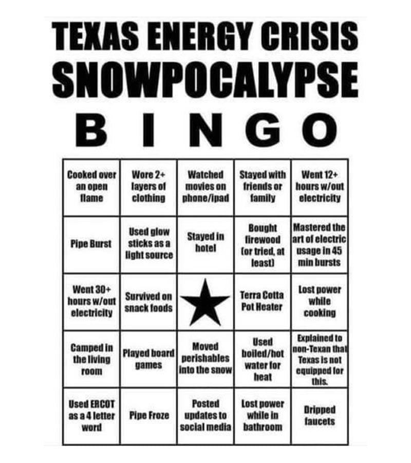 texas energy bingo meme