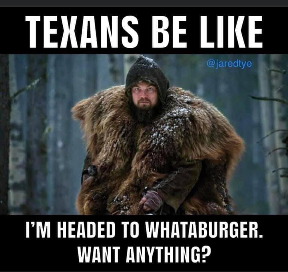 texas snow whataburger meme