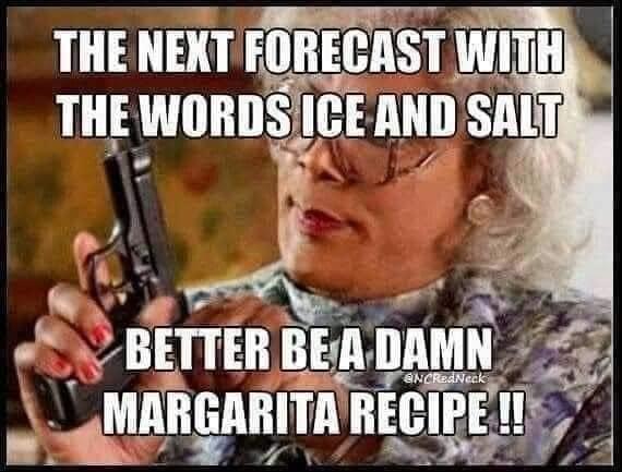 texas winter margarita meme