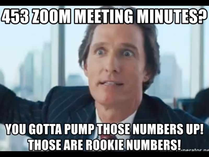 too many zoom meetings meme
