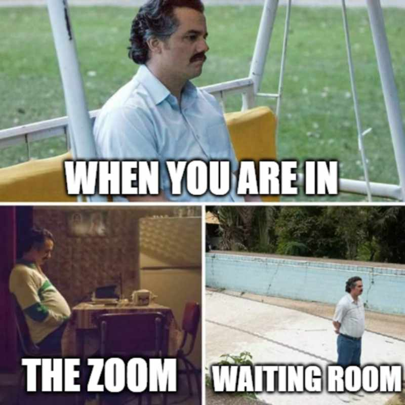 waiting room zoom meme