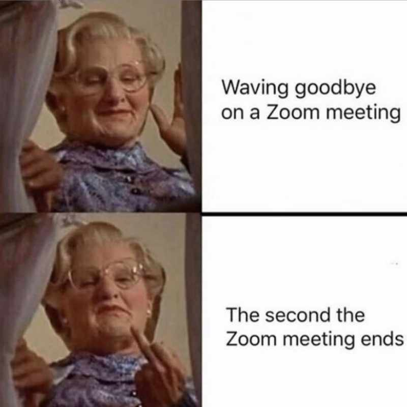 video meeting humor anti zoom meme mrs doubtfire