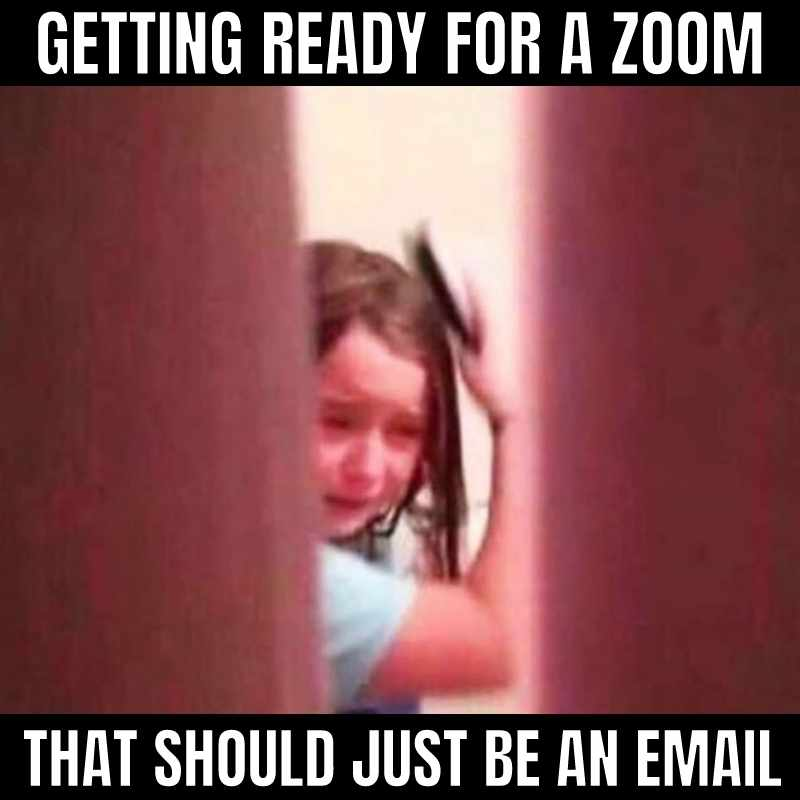 zoom should have been an email meme